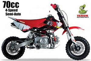 Venom 70(S) 4-Speed Semi Automatic Pit Bike