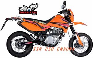 SSR XF250 Enduro 5-Speed Manual Clutch Dirt Bike