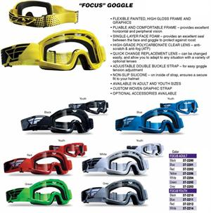 all colors FOCUS Goggles, ATV, Motocross
