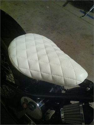Heist Bobber Custom Wrapped Seat