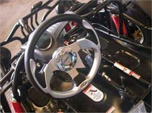 Sport Steering Wheel and Digital Speedometer