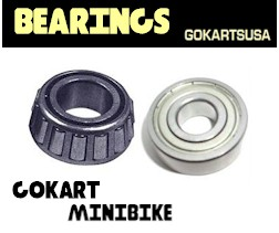 gokart and minibike bearings