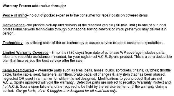 Warranty Protect Coverage