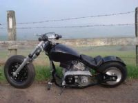 This Bike shows the Standard Front Forks and Wheel
