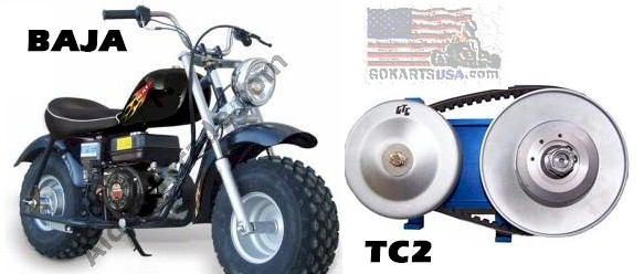 Gtc Torque Converter Baja Warrior And Mb200 Minibikes
