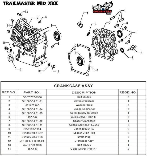 Spacer  Drain Plug  For Trailmaster Mid Xrx 196 Go Kart