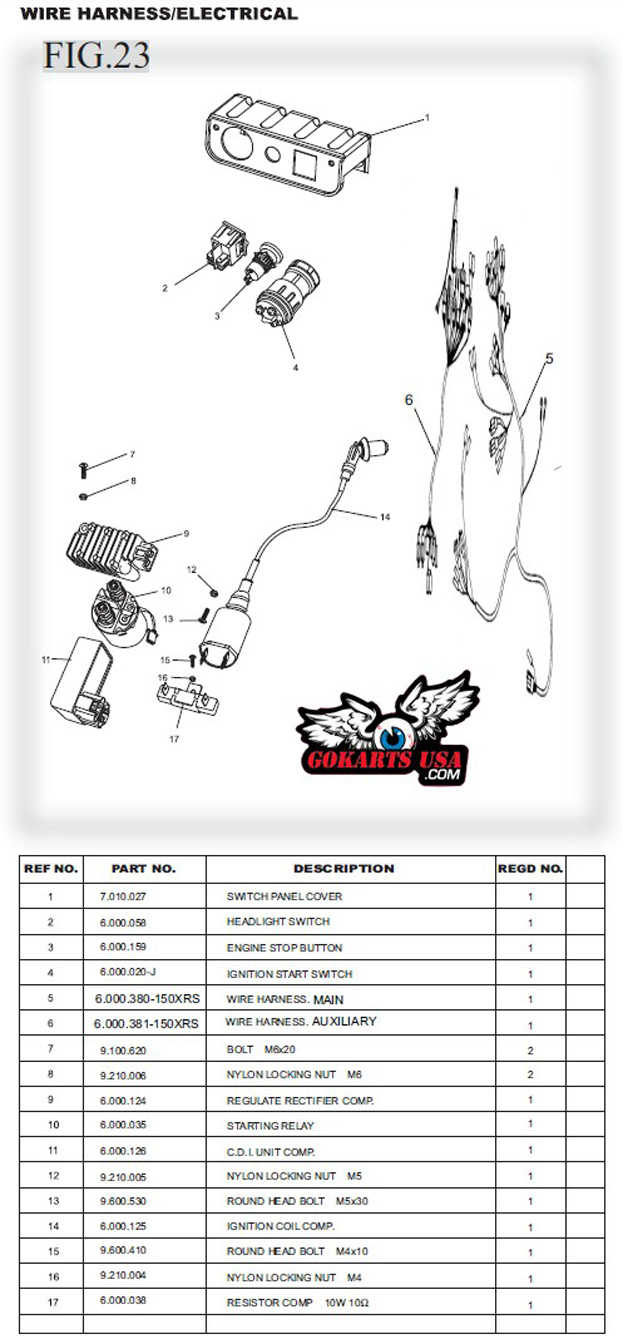 TrailMaster_150_Gy6_Buggy_Gokart_Electrical_CDI_Stator wire harness, main, for trailmaster gy6 150 buggy go kart kinroad 250 buggy wiring diagram at gsmx.co
