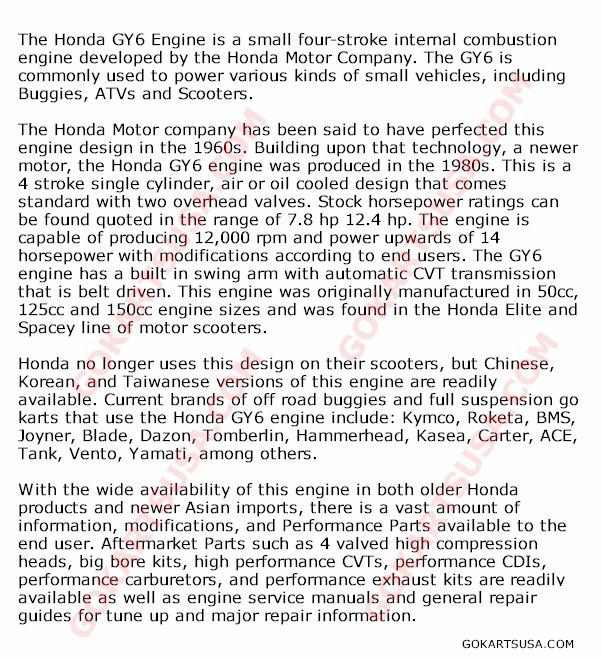 Honda Gy6 Engine 50cc 150cc 250cc