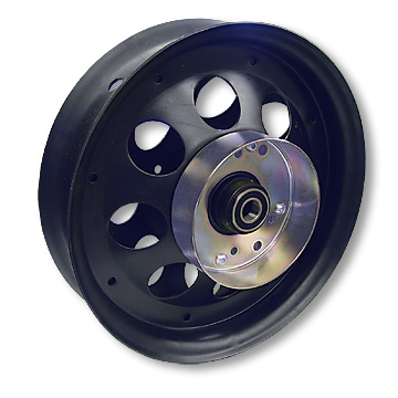 10 in. Front Wheel for Mini Bikes, WITH BRAKE DRUM, Black Oxide 5/8 in. ID