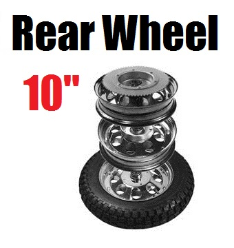 10 in. Rear Wheel Assembly for Mini Bikes, 60 Tooth Sprocket
