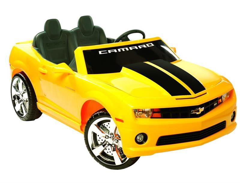 Kids Chevrolet Camaro Go Kart Electric 12v Yellow In Stock Now