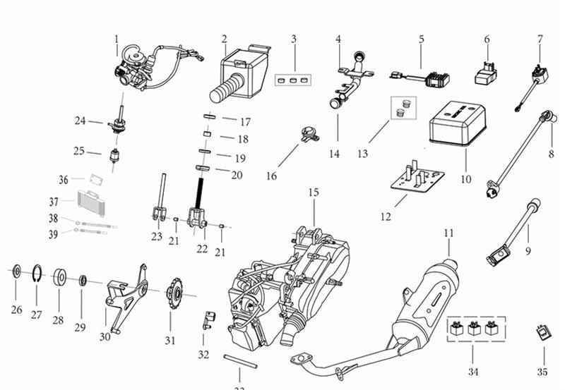 REF. (10) Kandi 200 Buggy Electrical Box Cover Kandi Fs Wiring Diagram on