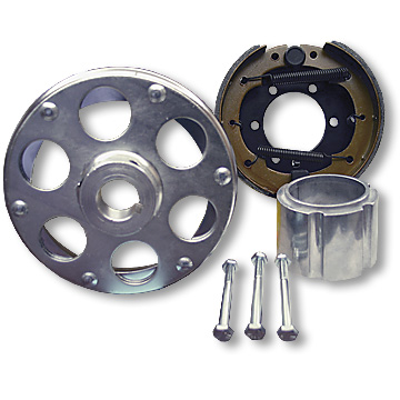 Brake Assembly, 6 in, WITH PLATED DRUM RIVETED TO 1 in  ID UNI-HUB