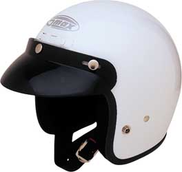 GMAX GM2 OPEN FACE HELMET, White