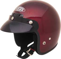 GMAX GM2 OPEN FACE HELMET, Wine
