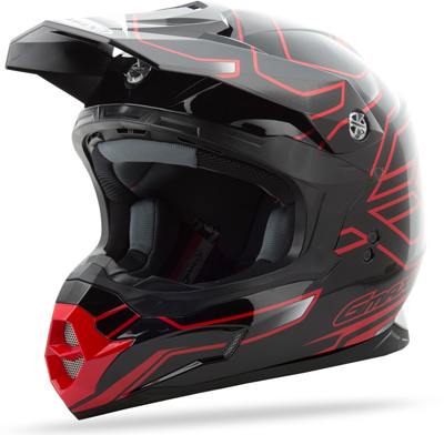 GMAX MX86 STEP HELMET Black/Black/Red