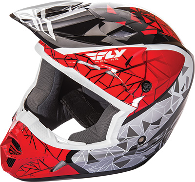 FLY RACING KINETIC CRUX HELMET Red/Black/White