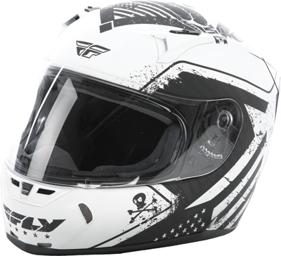 STREET FLY REVOLT PATRIOT HELMET MATTE White/Black