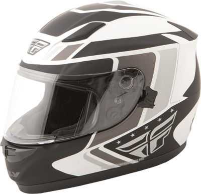 CONQUEST RETRO HELMET WHITE/BLACK/GREY