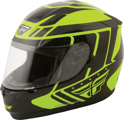 CONQUEST RETRO HELMET Hi-Vis/Black