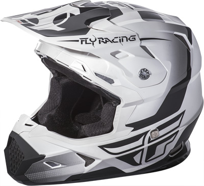 FLY RACING TOXIN HELMET Matte White/Black