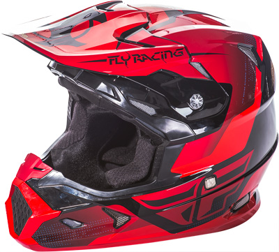 FLY RACING TOXIN HELMET Red/Black