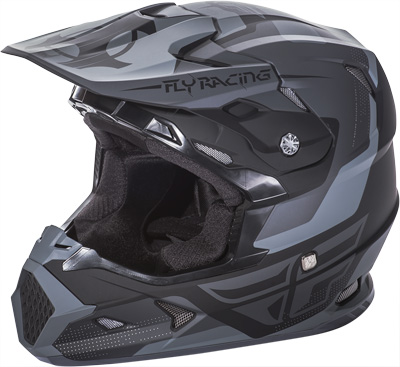 FLY RACING TOXIN HELMET Matte Black/Grey