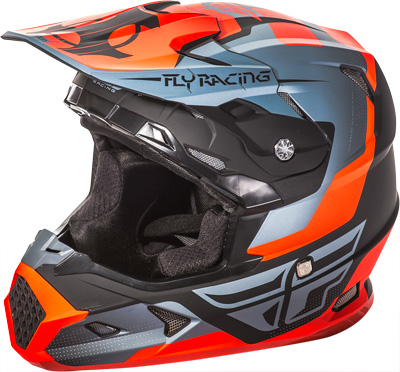 FLY RACING TOXIN HELMET Matte Orange/Black/Grey