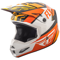 FLY RACING ELITE GUILD HELMET ORANGE/WHITE/BLACK