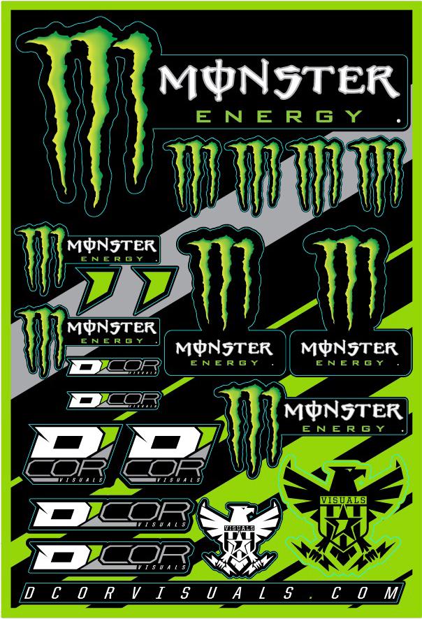 12x18 Monster Energy Decal Kit