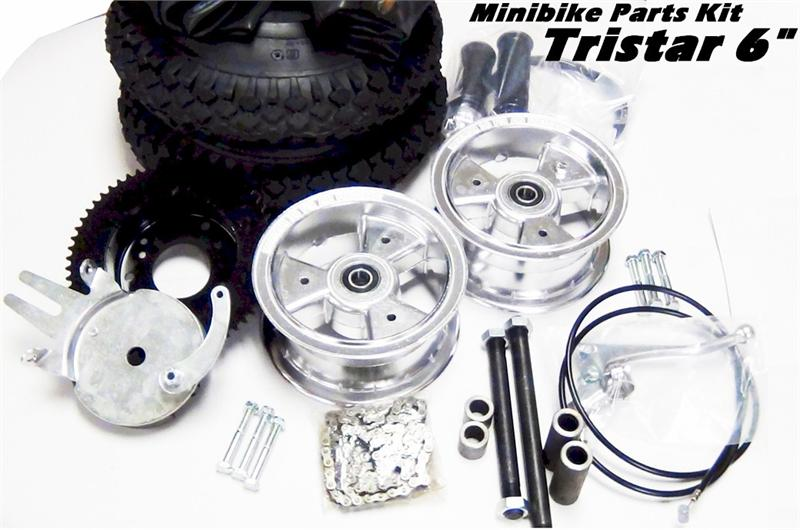 Frijole Mini Bike Parts Kit | with 5 in Tristar Wheels - gokartsusa.com