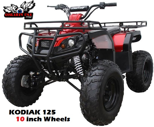Kodiak 125 ATV, 3-Speed Semi Automatic wReverse, 10 inch wheels