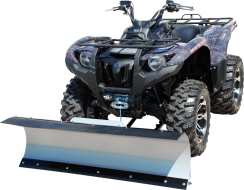 ATV Snow Plow System, shown installed on an ATV
