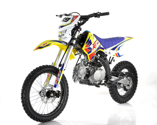 Apollo RFZ 125cc Dirt Bike, 4-Speed Manual, Headlight, Dual Disc (17/14)