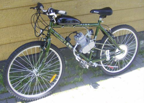Bicycle Gas Engine Conversion Kit, (Bicycle Not Included)