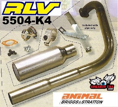 Exhaust for Go Karts, Mini Bikes | GX200
