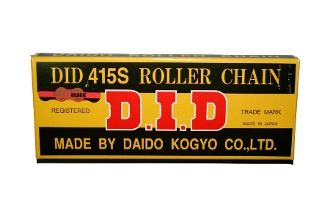 D.I.D.#219 CHAIN GOLD ON BLACK FINISH, 106 LINK.