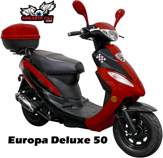 Europa Deluxe 50 Moped Scooter