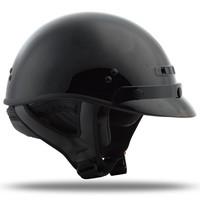 GM-35 HALF HELMET DRESSED FLAT BLACK