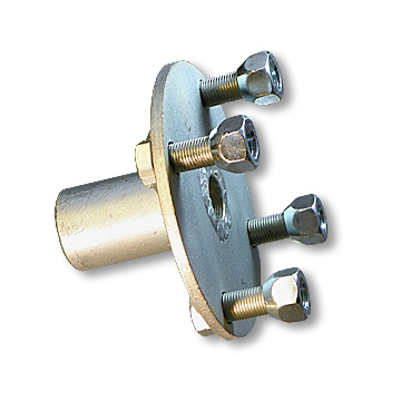 Adapter Hub, Zinc Plated Steel, 4 Bolt with Keyway for Live Axle (STEPPED)