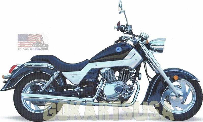 Jinlun 250 V-Twin Cruiser Motorcycle Lifan V-TwinGoKarts USA