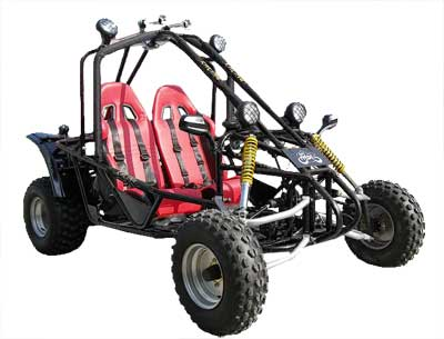 Cheetah 200 (200GKA-2) Buggy Go Kart, 180cc, Steel Wheels