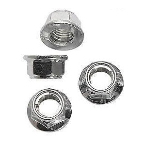 LOCKING FLANGE (LUG) NUT M10, (set of 4) for TrailMaster 150 Buggy Gokart