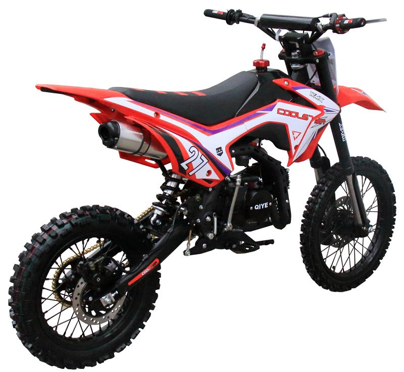 125M Dirt Bike, 4-Speed, Manual Clutch, Mid Sized, Kick Start