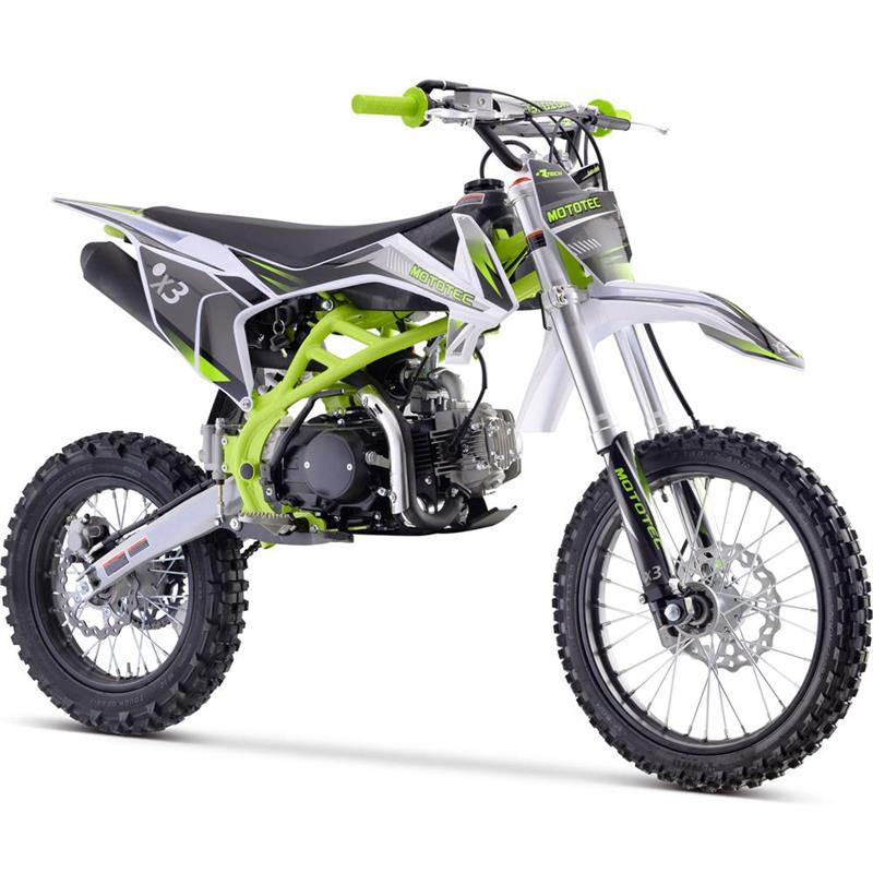 X3 125cc 4-Stroke Gas Dirt Bike 4-Speed Manual