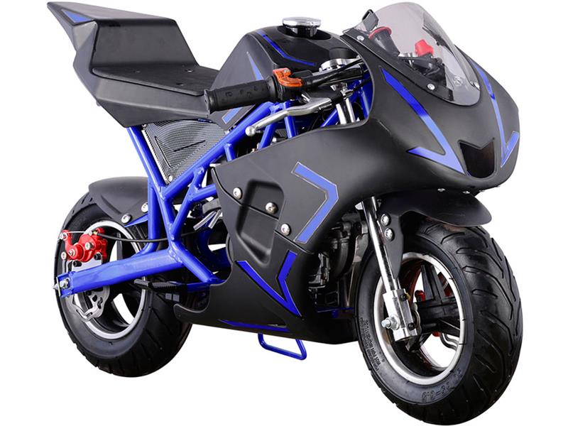 Cali Gas Pocket Bike 40cc Blue