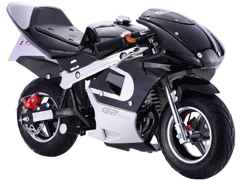 GBMoto Gas Pocket Bike 40cc Black