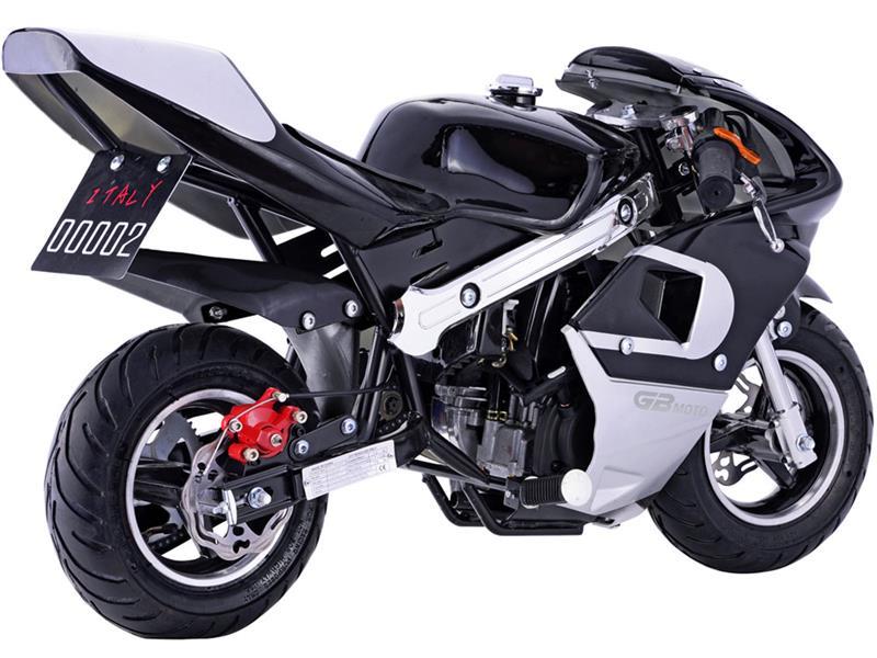 GBMoto Gas Pocket Bike 40cc, 4-Stroke Black
