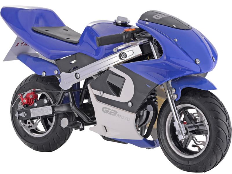 GBMoto Gas Pocket Bike 40cc Blue