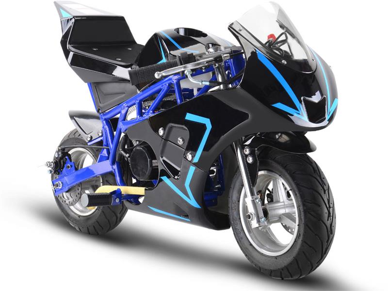 Gas Pocket Bike GP 33cc 2-stroke Blue